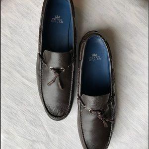 Peter Millar brown tassel loafers